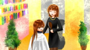 【4コマ】金欠で伸び放題だった髪、美容院に1年2ヶ月ぶりに行った話