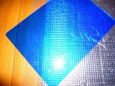 青い下敷き