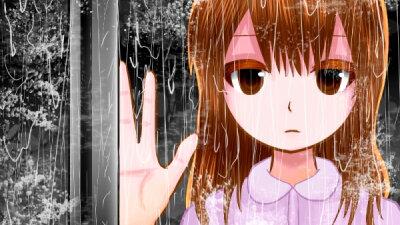 【4コマ】雨の日は気分が落ち込むけど癒しの日だとプラスに考えるようにした話